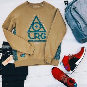 LRG Crewneck Sweatshirt Olive Teal Sweater